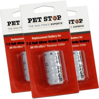 3 pack of 7.5 volt battery for pet fence collars