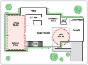 pet stop indoor transmitter sample layout